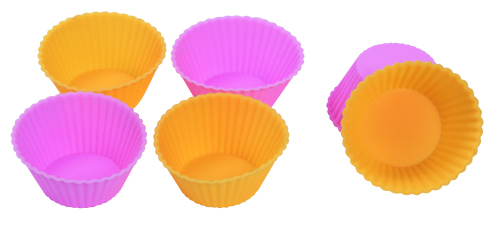 CXBC-6001A Silicone baking cup-  Round  6pcs set with top rib