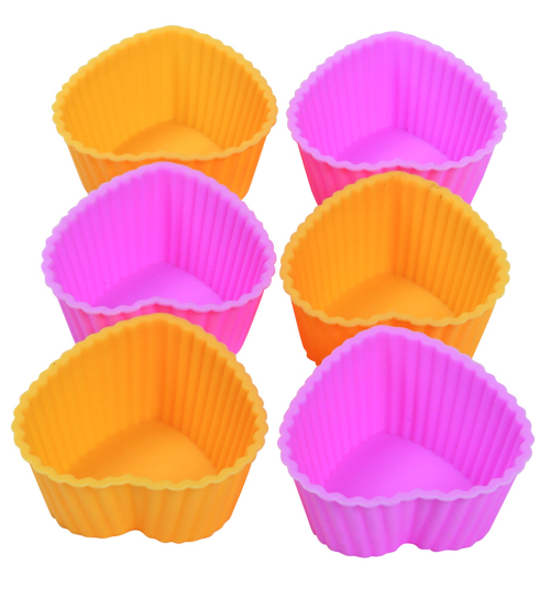 CXBC-6002 Silicone baking cup-  Heart  6pcs set