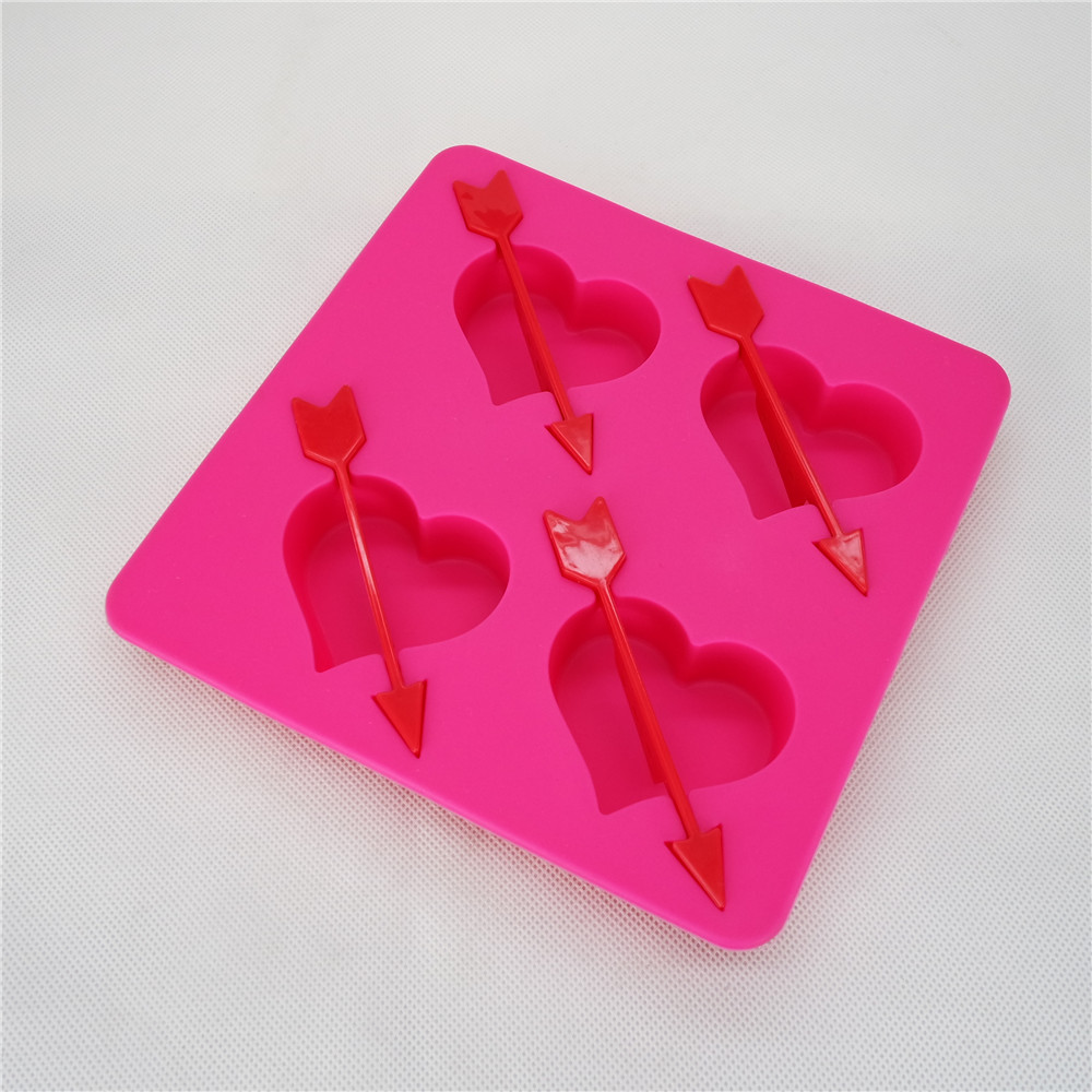 CXIT-5011	Silicone Ice tray-Heart shape ice tray
