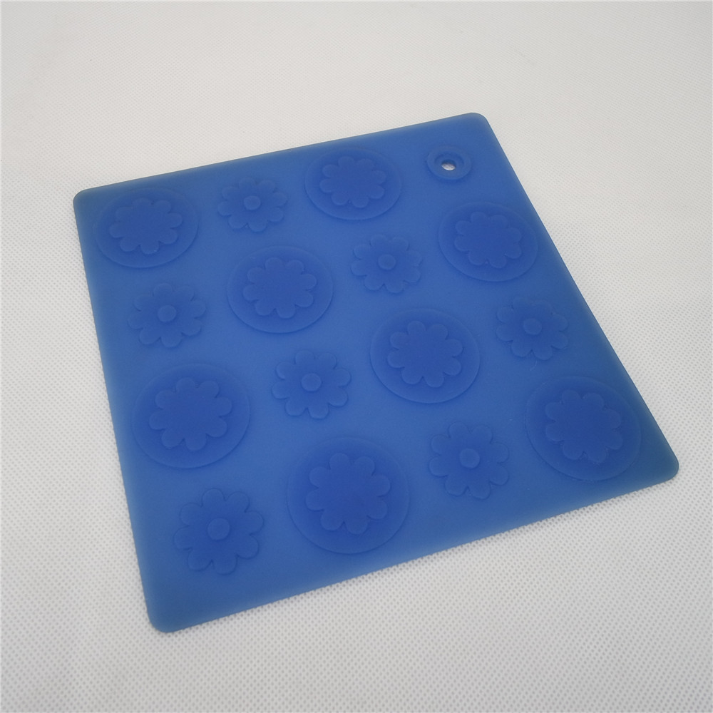 CXRD-1009 Silicone Mat Square Shape With Floral Pattern