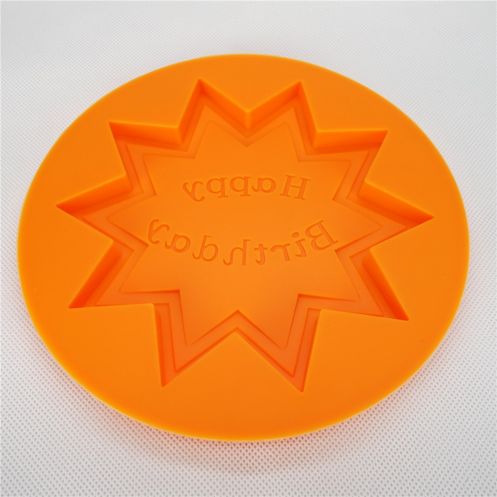 CXCH-002	Silicone Chocolate mould-Round  with happy birthday