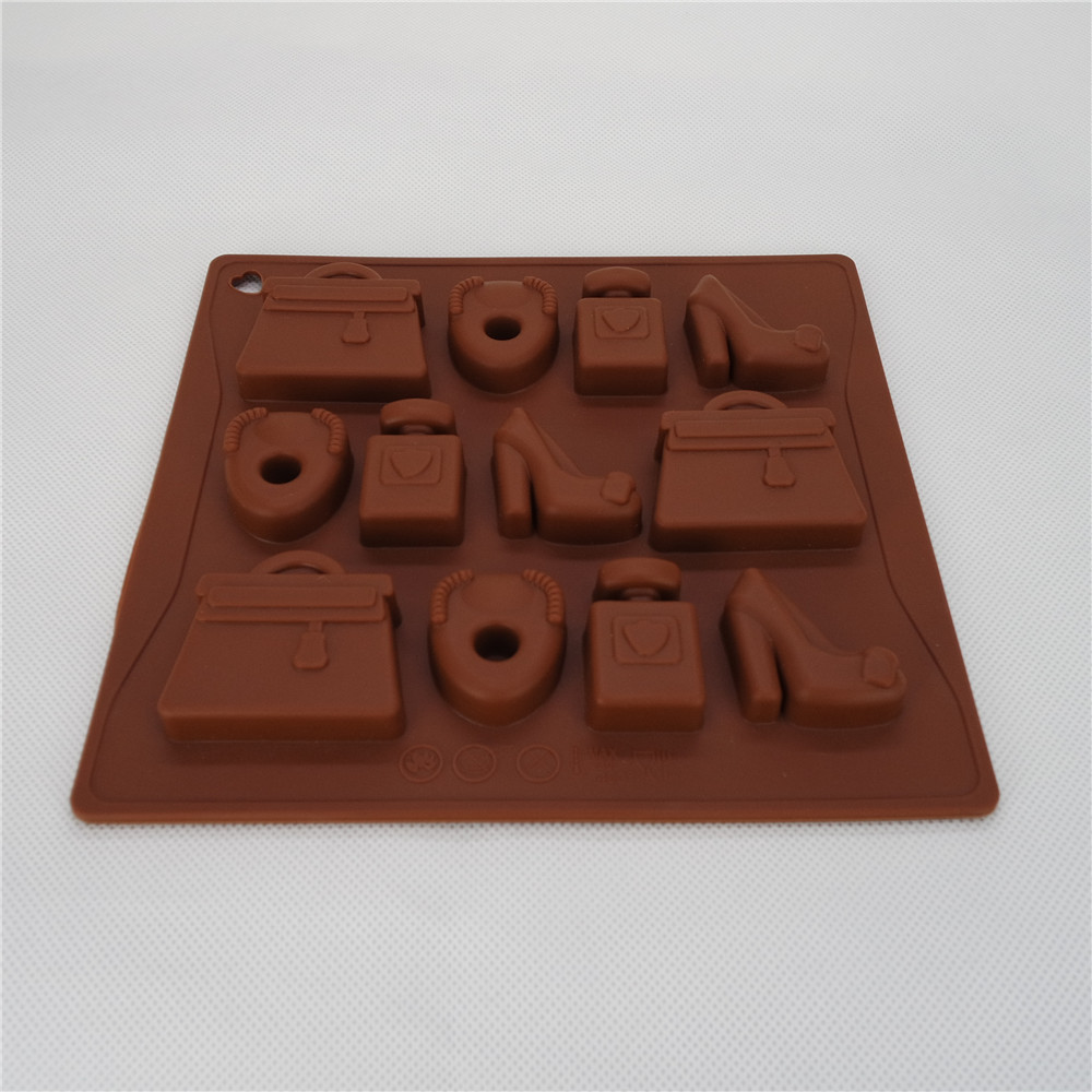 CXCH-013	Silicone Bakeware Chocolate Mould Lady's Accessories 12-Cup