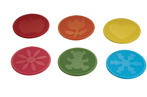 CXBD-4003  Silicone Cup Coaster With Apple  Pattern