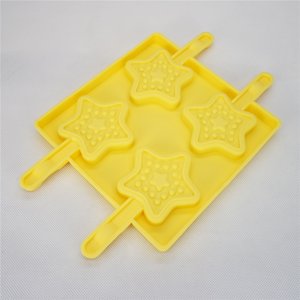 CXPM-002	Silicone Bakeware Chocolate Mould Lolli Pop Star Pop
