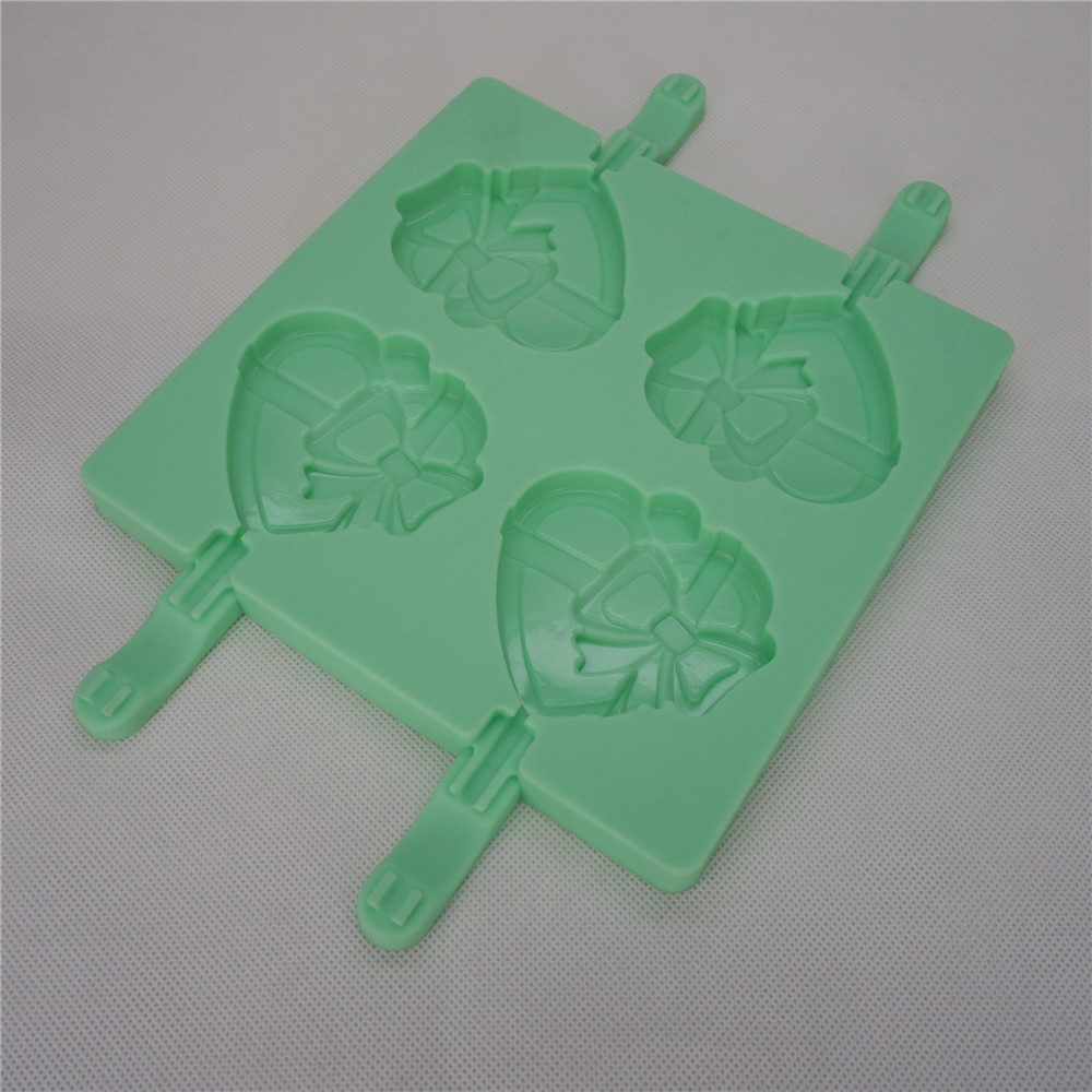 CXPM-004	Silicone Bakeware Chocolate Mould Lolli Pop Heart pop